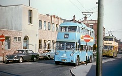 Joint Trolleybus, St James Square, Wolverhamtpon, 1964 (Lady Wulfrun) Tags: walsall trolleybus 345 adx194 stjamessquare wolverhampton october 1964 ipswich sunbeam w f4 roe parkroyal