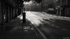 Early morning walker (zolaczakl ( 2 million views, thanks everyone)) Tags: bristolinmonochrome bristol mono monochrome blackandwhitebristol blackandwhite august 2016 baldwinstreet earlymorninglight earlymorning uk england southwest cityscenes citylife photographybyjeremyfennell nikond7100