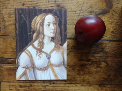 Botticelli and plum (ART NAHPRO) Tags: botticelli plum post card