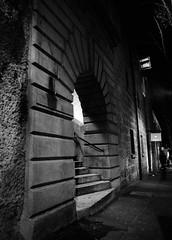 Argyle Stairs, The Rocks. Sydney (Colin_Bates) Tags: sydney the rocks argle stairs night city bw film ilford hp5 mamiya rz67