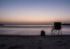 By The Beach (Emi.R.) Tags: summer beach uae sunset gulf silhouette sky landscape ajman shore ocean sea