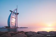 Sail away (anderswotzke) Tags: burjalarab sunset beach sea ocean pastel sail dubai emirates uae unitedarabemirates landscpae building arabic saudi architecture sun frame a7rii sony africa