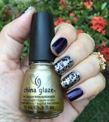 Chanel - Taboo + Passion - China Glaze + VL 009 (Jane Iris) Tags: esmalte polish art nail gold chanel