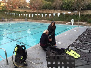 Divers Set Up Their Gear
