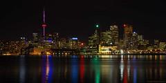 good night (martinaschneider) Tags: nightphotography sky lake toronto ontario skyline night lakeontario polsonpier