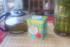 Trader Joe's Coconut Green Tea (blackunigryphon) Tags: morning asian spring coconut balcony newengland siamese bamboo patio zen thai traderjoes greentea decor lemongrass bohemian bohochic gypsetter gypset bohodecor
