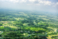 View of Bagdogra ([s e l v i n]) Tags: sky india green clouds river earth greenery windowview bengal hdr westbengal bagdogra greenearth viewfromflight sikkimtravel travelinsikkim selvin
