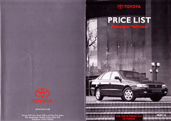 1993 UK PRICE LIST (celicacity) Tags: uk price 21 may 1993 list toyota 1992 ee90 ae92 sw20 st185 lj70 ma70 hdj80 ct190 st182 st191 sxv10 ep80 tcr11 at190 vcv10 0000090044br