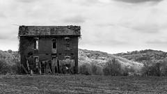 Pike County MO (joeqc) Tags: county blackandwhite bw black abandoned blancoynegro monochrome canon mono decay mo missouri pike decrepit 6d ef70300 rurex oncewashome lonex