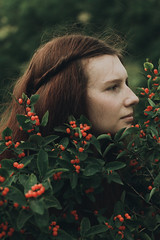 Berries (Alina Autumn) Tags: new light portrait tree green art history love nature girl beautiful forest vintage hair photo photographer natural russia outdoor atmosphere beaty redhead tragic tenderness tragedic fragility
