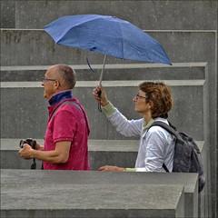 Yes, dear!!! (me*voil - away) Tags: people berlin rain umbrella couple holocaustmemorial