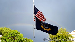 July 18, 2016 - Old Glory and a rainbow. (ThorntonWeather.com)
