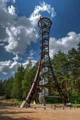 Mindunu viewpoint tower HDR (Zygios) Tags: baltics europe lietuva lithuania mindunai apvalgosboktas boktas viewpoint tower architecture outdoor travel forest sky clouds hdr photomatix nikonflickraward