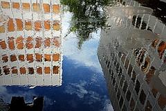 chauderon (overthemoon) Tags: switzerland suisse schweiz svizzera romandie vaud lausanne chauderon puddle upsidedown rain pluie
