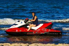 ... too shallow waters ... (mariola aga) Tags: lakemichigan summer jetski portrait shallowwaters me funshot water sport
