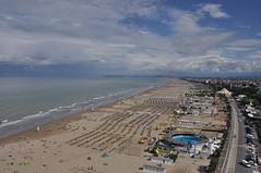 VISTA AEREA (GRAZIE PER LA VISITA) Tags: sea costa beach clouds nikon nuvole mare rimini spiaggia romagna vistaaerea litorale nikkor18200vr nikond90