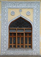 Large Palace window with detailed stucco work (VinayakH) Tags: india gardens royal palace hyderabad royalpalace nizam telangana chowmahallapalace
