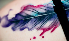 Pretty girl Tattoo Texture (fcafca) Tags: paris macro girl sony 11 sp di tatoo tamron 90mm f28 a7 macrolens alpha7 flickrphotowalk portraitlens macromondays rawtherapee macrotexture laea4