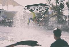 Jetski. (vito.chiancone) Tags: jetski morning light australia queensland qld jump crazy water upsidedown upside down pointofview freeze