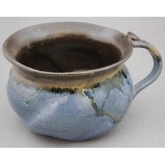 Chowder Mugs/ Bowls - Adirondack Blue and Gold Ash (Ryan McCullen) Tags: mug bowl cup soup chowder cappuccino adirondack blue gold ashglaze clay ceramic stoneware pottery handmade wheel wheelthrown functional home