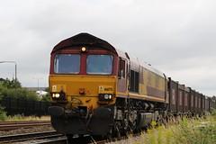66 175 EWS (GAZ SELLERS) Tags: railway railroad train tracks locomotive pulling red yellow