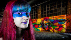 Painted Ladies (Acero666) Tags: 18 18photographyclub 2016 art darkart decay facepaint graffiti model published urban urbanart