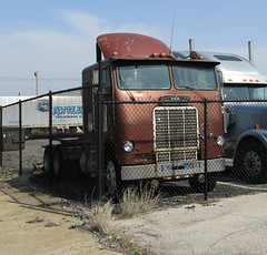 White Freightliner Cabover Truck (*hajee) Tags: white truck freightliner coe cabover