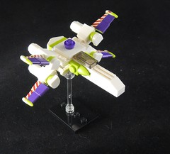 Buzz Lightyear's X-Wing (donuts_ftw) Tags: lego moc spaceship starwars xwing starfighter buzzlightyear toystory disney collectableminifigures