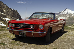 Ford Mustang Rouge - 1960 (Rosca75) Tags: photo photography art car auto automobile ride drive engine horsepower driver vehicle vehicles red mustang collection carcollection carscollection exoticcar landscape landscapes mountain mountains rock rocks coldeliseran iseran 1960 mustang1960 beautifulcar