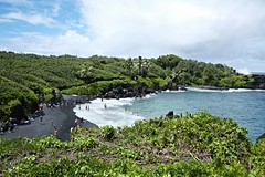 BLACK SAND BEACH, MAUI (8mr) Tags: roadtohana maui hawaii 808 hawaiian beach hana bokeh shark waianapanapa kaanapali kihei makena bigbeach haleakala wailea bamboo forest mothernature natural earth greenery lush islandlife shavedice road