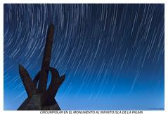 Circumpolar en el monumento al Infinito ISLA DE LA PALMA (yoni103) Tags: nocturnas circumpolar