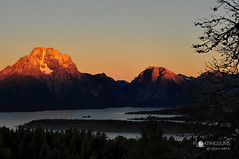 Sunrise on the Grand Teton range, Wyoming (missizjeranism) Tags: grandtetons nationalparks usa wyoming clouds color horizontal lake landscape mountains nationalparkusa outdoor stillwater sunrise tree usnationalparks zlens50mm18dnikon us
