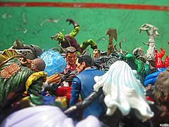 Too many villains! (THE AMAZING KIKEMAN) Tags: spiderman villains marvel hasbro toy biz select action figures photography rogues gallery venom mysterio kraven hunter doctor octopus stegron chameleon hammerhead tarantula wolf man jack o lantern rhino electro sandman tombstone black cat scorpion carnage lizard green goblin demogoblin hobgoblin vermin alistair smythe prowler hydro swarm scarecrow boomerang doppleganger kingpin toxin vulture