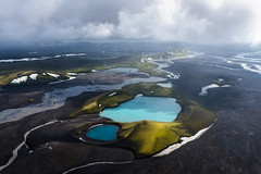 Moody Iceland (Carolyn Cheng) Tags: iceland glaciallake glaciallakes bluepools highlands helicopter aerial nikon d810 carolyncheng