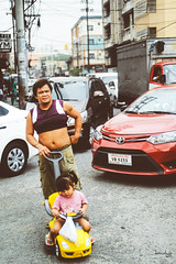 Joy Ride (Daniel Y. Go) Tags: fuji fujixpro2 xpro2 philippines kalye street pinas daughter father ride