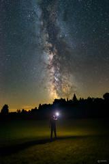 North Frontenac Township Dark Sky Preserve (www.adamcimages.com) Tags: nikon d800 full frame dslr night sky milky way strobist flash cactus triggers v5 north frontenac dark preserve self portrait space galaxy stars