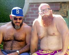 IMG_7880 (danimaniacs) Tags: party shirtless man guy sexy hot bear beard scruff hat cap hairy pierced bald