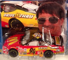 #51-18, Bill Elliott, #94, McDonald's, Pictures With Real Hot Wheels Cars & Their Diecast (Picture Proof Autographs) Tags: photograph photographs inperson pictureproof photoproof picture photo proof image images collector collectors collection collections collectible collectibles classic authentic authenticated real genuine diecast auto autos vehicles vehicle model toy toys automobile automobiles autoracing sport sports nascar series winstoncup sprintcup busch nationwide hotwheels fred frederick weichmann