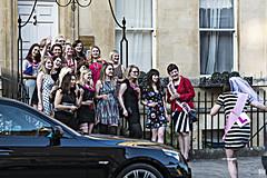 Bridal Shower in Bath (BAN - photography) Tags: street uk girls party car bride women bath steps chaperon
