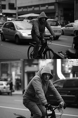 [La Mia Citt][Pedala] (Urca) Tags: portrait bw bike bicycle italia milano bn ciclista biancoenero bicicletta 2014 pedalare blackandwhitr dittico 72327 ritrattostradale nikondigitalemir
