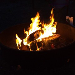Time to roasr mashmellows by the campfire.