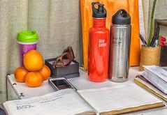 The Basics (Kool Cats Photography over 8 Million Views) Tags: orange color oklahoma sunglasses notebook cellphone oranges pens oklahomacity