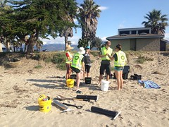 ESRM Field Team 1 sampling Goleta Beach 5-21-15