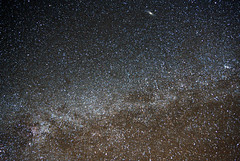 Milky Way with another galaxy (ctstetson) Tags: stars space nevada astro andromeda galaxy astrophotography m31 astronomy stetson milkyway southernnevada astrometrydotnet:status=solved ctstetson greatandromeda astrometrydotnet:id=nova1119721