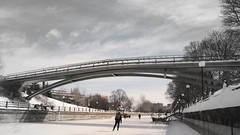 Under the bridge (felixdesroches) Tags: winter skating rideaucanal gh4 2470mmf28canon metabonesspeedbooster