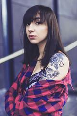 olga.03 (guzik_) Tags: portrait senior girl look tattoo female 50mm eyes nikon grunge lingerie 50mm14 nikkor septum inked polishgirl tattooedgirl d610 inkedgirl