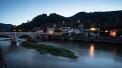 St-Ursanne.jpg (jan.remund) Tags: jura wasser langebelichtung bluehour architektur stursanne city