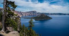Crater Lake, Oregon (maytag97) Tags: maytag97 lake craterlake island wizardisland landscape sky clouds blue bluewater nikon d750