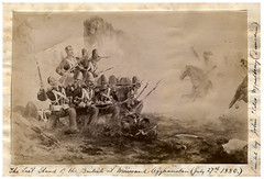 'The Last Stand of the British at Maiwand, Afghanistan, 27 July 1880' by John Elder Moultray (Archives New Zealand) Tags: archivesnewzealand archives archivesnz newzealand newzealandhistory history britain britishempire empire afghanistan secondangloafghanwar maiwand battleofmaiwand painting art warart patent patentsoffice johneldermoultray moultray jeldermoultray historypainting photograph war
