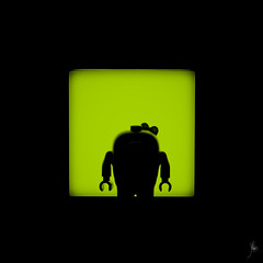 Shadow (208/100) - Piggy (Ballou34) Tags: 2016 650d afol ballou34 canon eos eos650d flickr lego legographer legography minifigures photography rebelt4i stuckinplastic t4i toy toyphotography toys rebel stuck plastic photgraphy blackwhite light shadow enevucube minifigure 100shadows angry birds movie piggy pig green